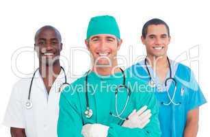 Portrait of men's medical team