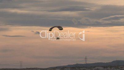 Powered Parachute fly sunset