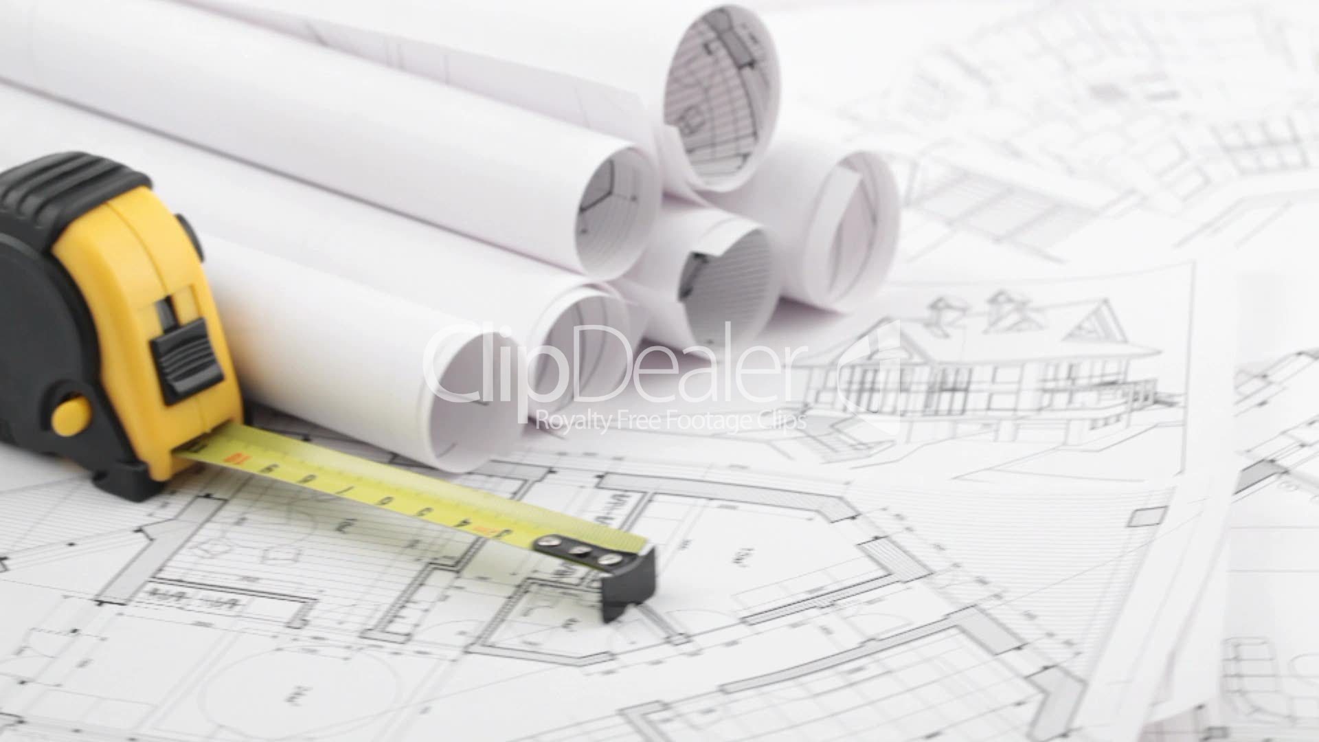 Architectural blueprints tape measure royalty free video and clips architectural blueprints malvernweather