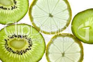 Früchtemix - Sternfrucht Kiwi  Birne Zitrone