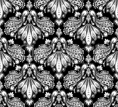 Black Gray White Ornate