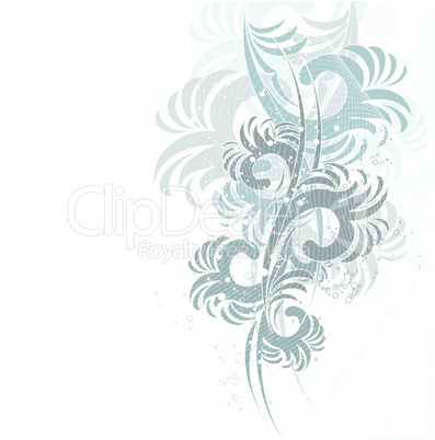 Vector Floral wave
