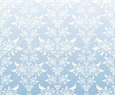 Blue white ornament