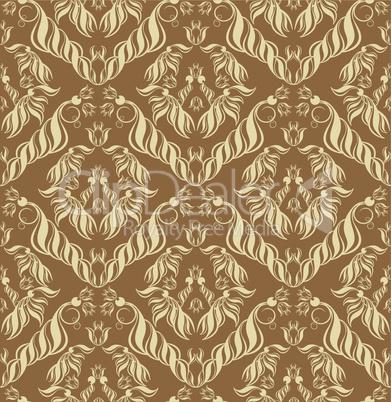 Brown decor seamless