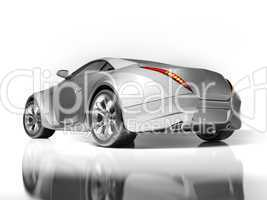 Sports car isolated on white background