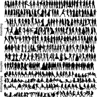 320 fashion silhouettes