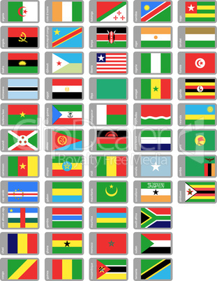 african flags set