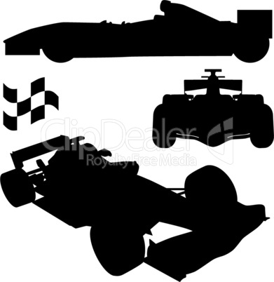 racing car silhouettes