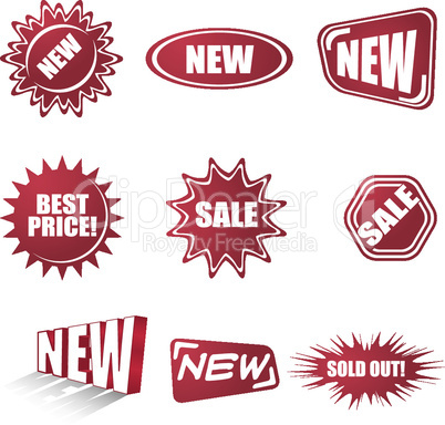 sale stickers set
