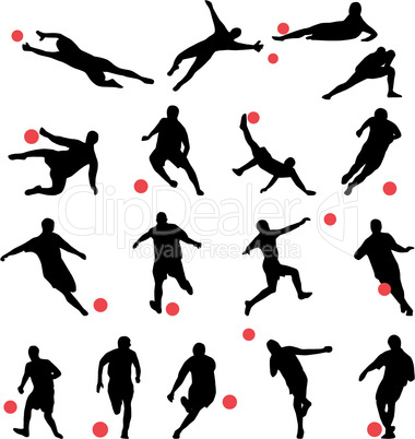 football silhouettes collection