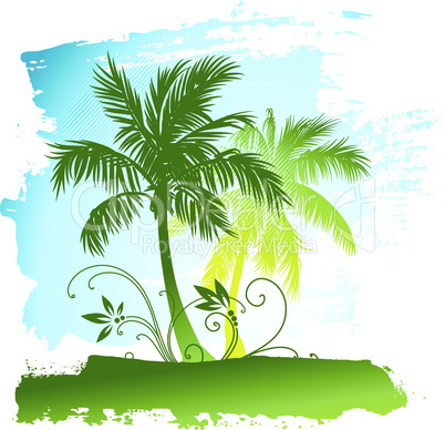 Gemälde mit Palmen