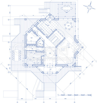 vector house plan