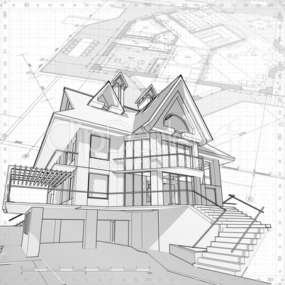 house - vector technical draw