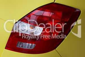 lanterns of the yellow modern car