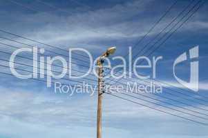 Classic telegraph pole