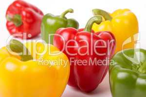 Group Of Six Bell Peppers