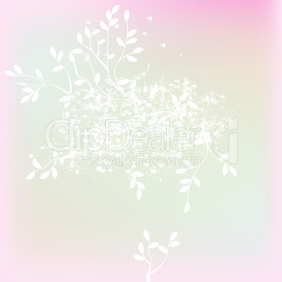 Template for background with tree branches