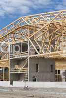Construction Site With Timber Work
