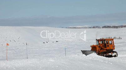 Snow plow mountain