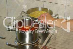 Kochen Spaghetti - cooking spaghetti 15