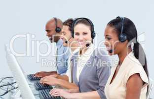 Assertive customer service representatives in a call-center