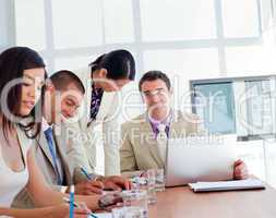 International business people having a meeting