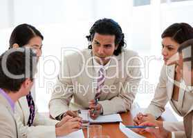 Concentrated business team having a meeting