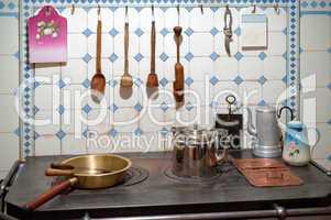 Kitchen of art nouveau