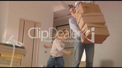 happy family moves into a new apartment 2