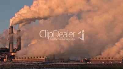 Power Plant Coal Pollution pan left