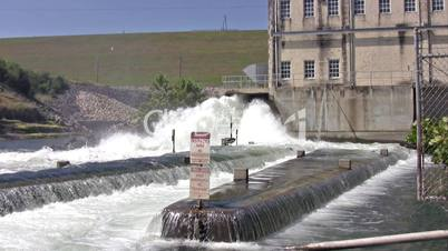 Hydro electric dam outlet