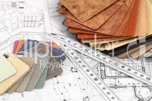 architectural materials and drawings of the modern house