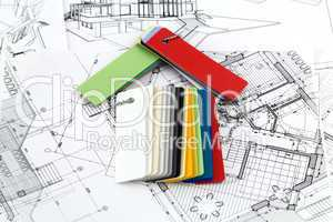 house plan & plastics for furnishing