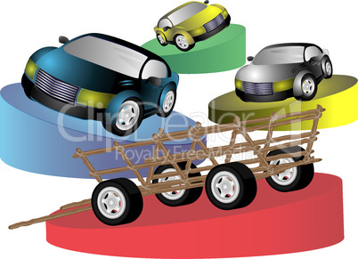Animal-drawn vehicle cars