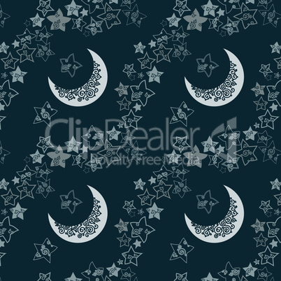 star and moon texture