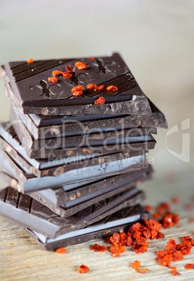 Schokolade mit Chili