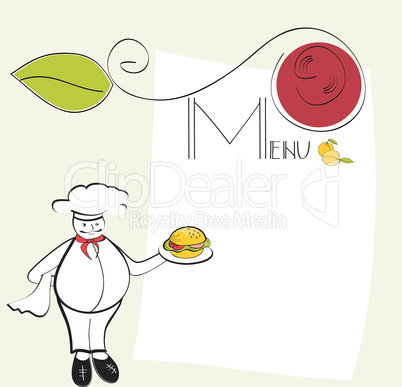 Template for menu