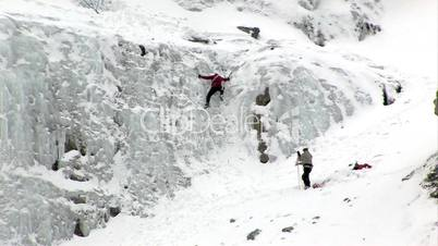 Ice climber small step