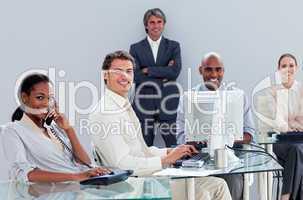 multi-ethnic business team at work