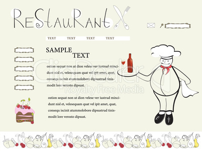 Website template with chef