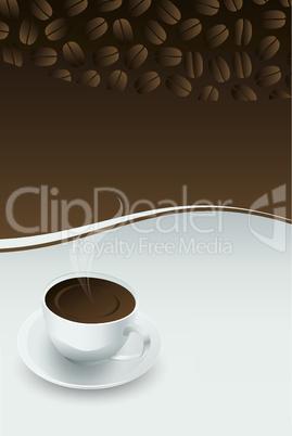 3D Kaffeetasse mit Kaffeebohnen