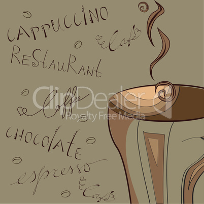Stylized background with coffee