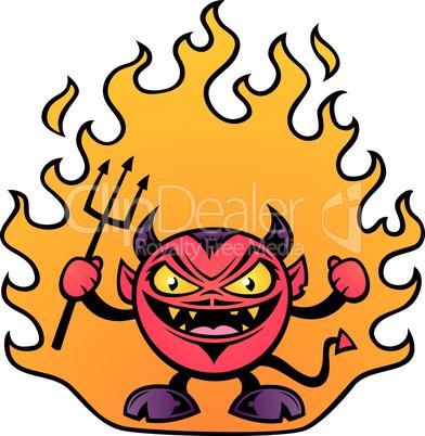 Fat Devil Cartoon
