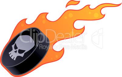 Flaming Hockey Puck