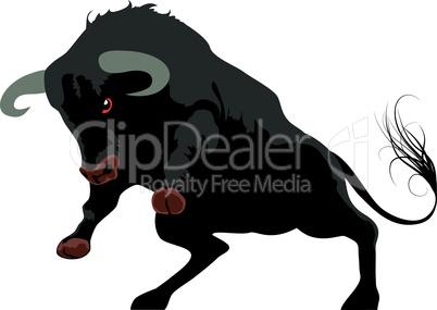 Agressive bull symbol