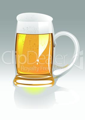 vector beer mug