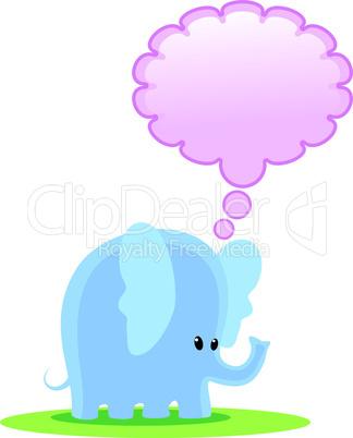 Denkender Elefant