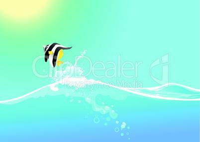 Springender Fisch
