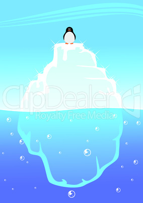 Pinguin auf Eisberg