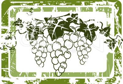 Weintrauben Label